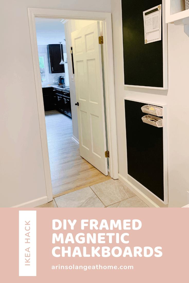 DIY Framed Magnetic Chalkboard