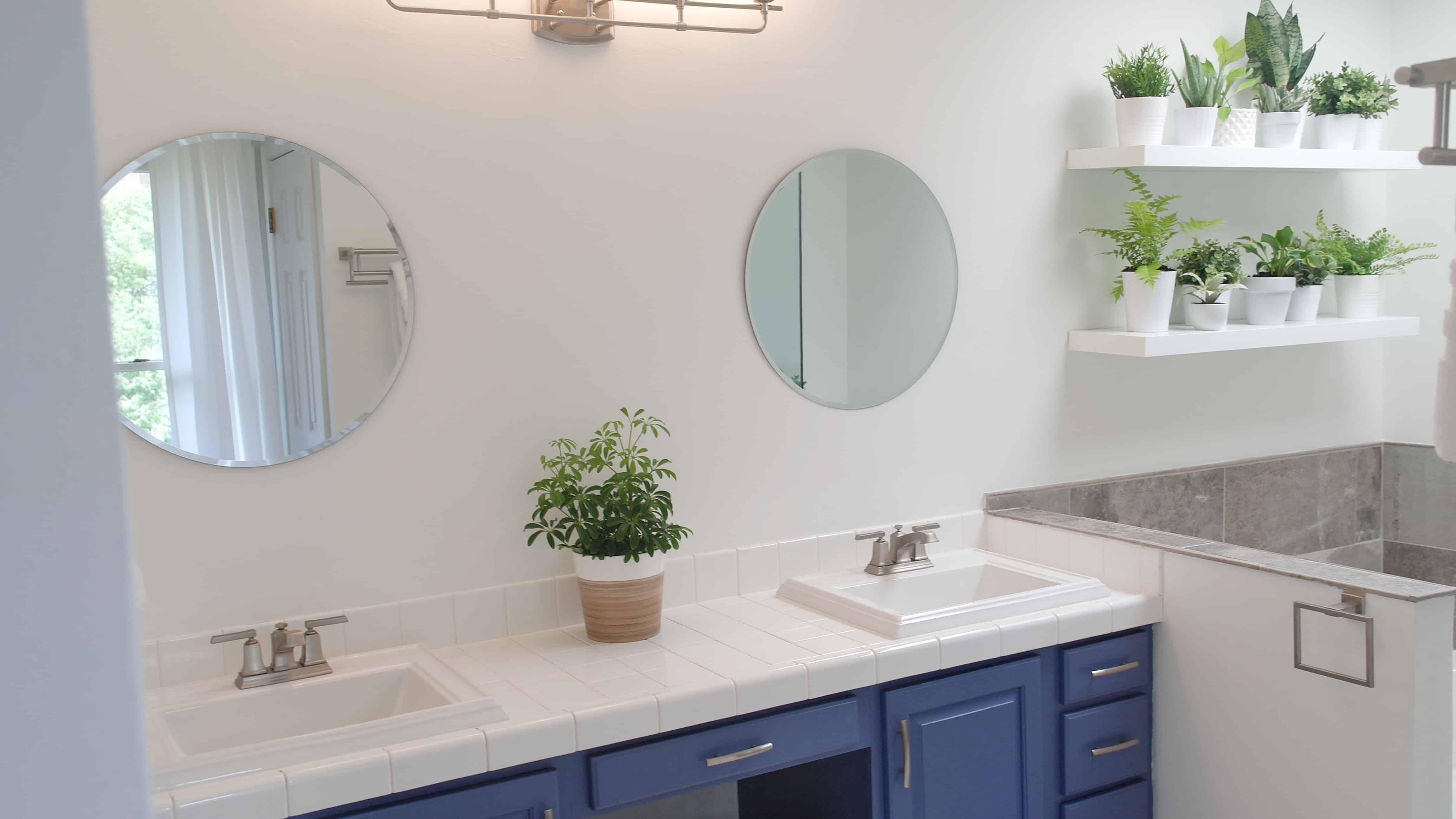 plant wall bathroom