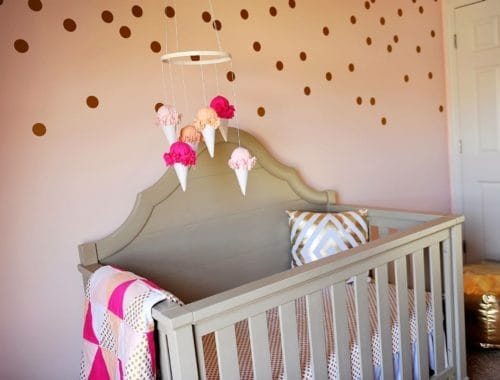 Pink and Gold nursery - www.arinsolangeathome.com