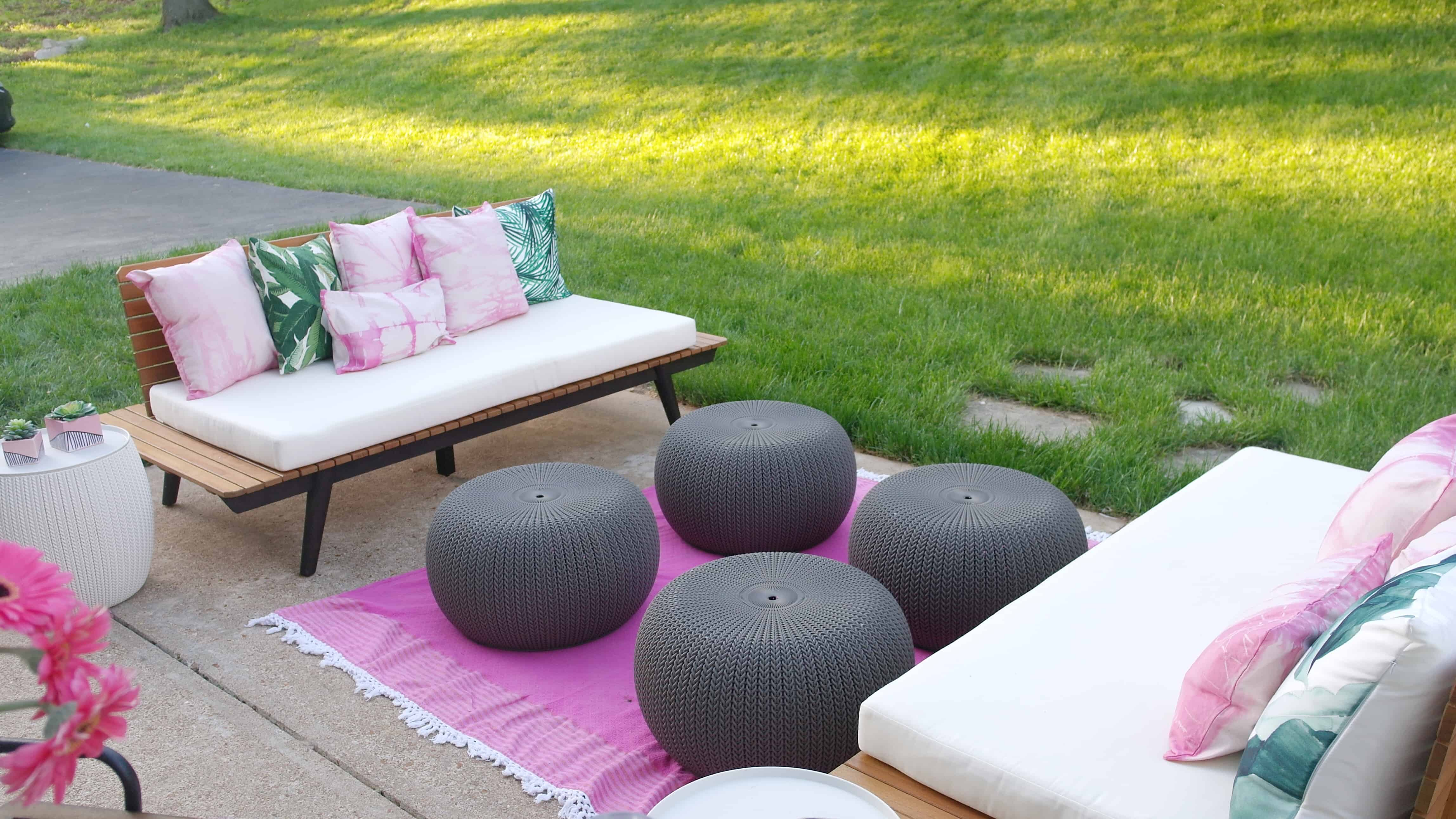 pink patio space