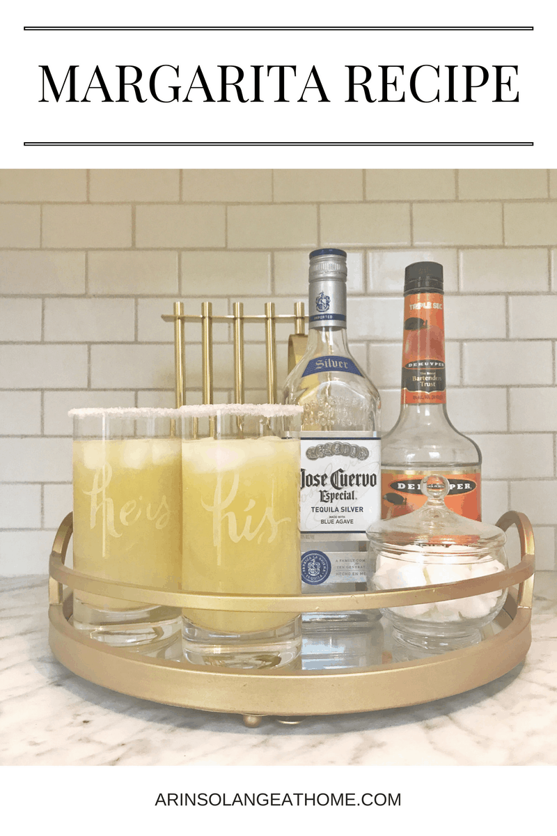 margaritas on a gold try | Margarita Recipe