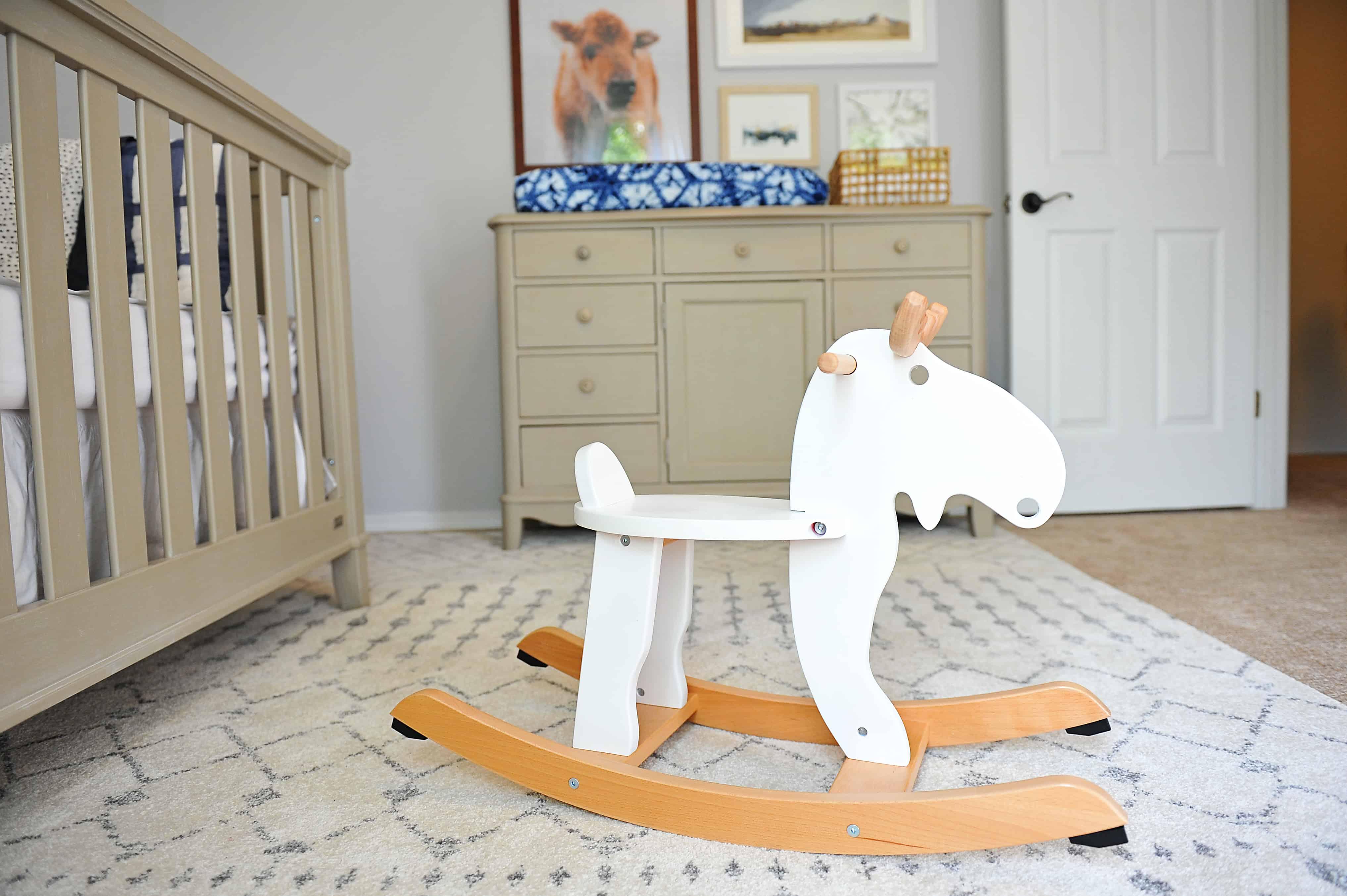 ikea hack rocking moose | Modern Boy Nursery