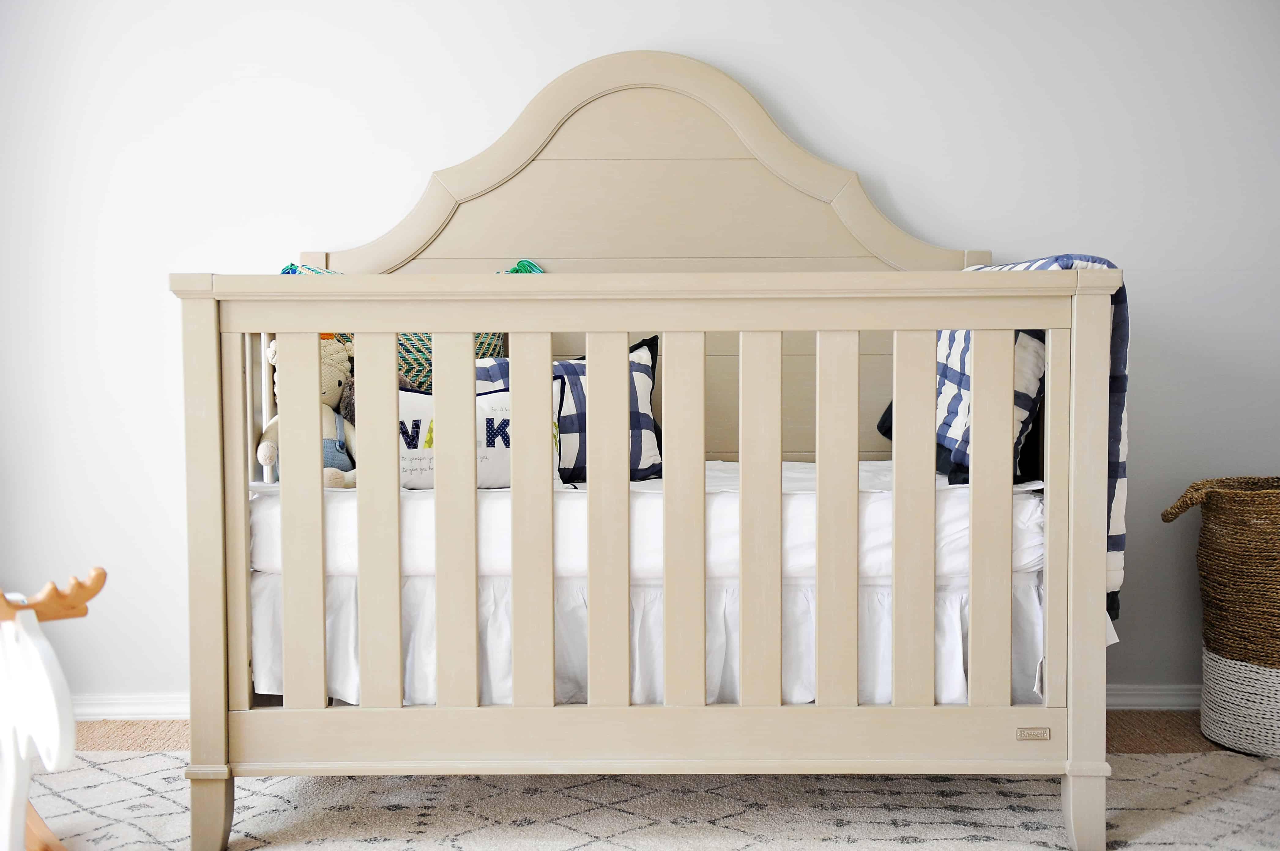 grey baby boy crib | Modern Boy Nursery