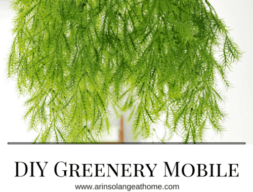 diy greenery mobile over crib