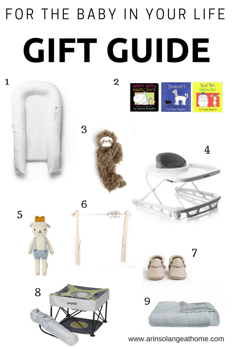 baby gift guide for Christmas and holidays - www.arinsolangeathome.com
