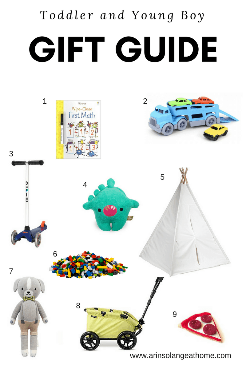 Toddler and young boy gift guide - www.arinsolangeathome.com