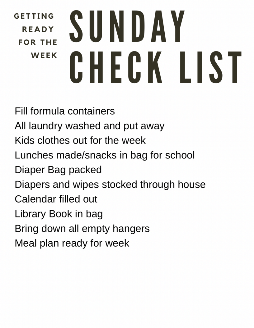 Cutting down on Weekly Chaos - Getting Organized