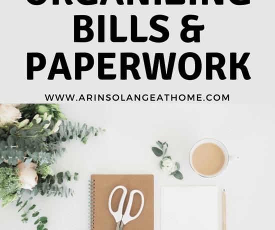 Organizing Bills & Paperwork - www.arinsolangeathome.com