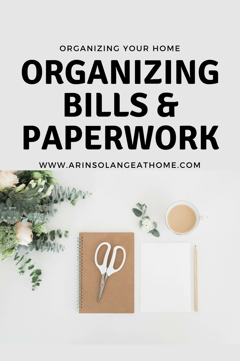 Organizing Bills & Paperwork