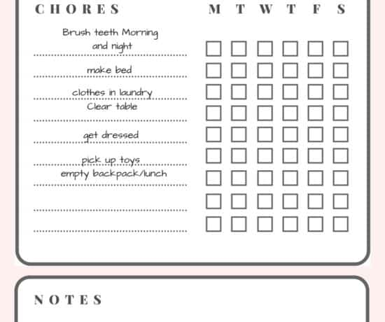 Blank Printable Chore Chart - www.arinsolangeathome.com