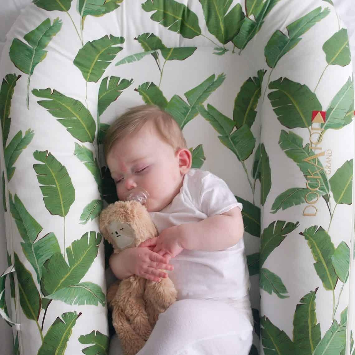 Sleeping baby in DockATot Grand