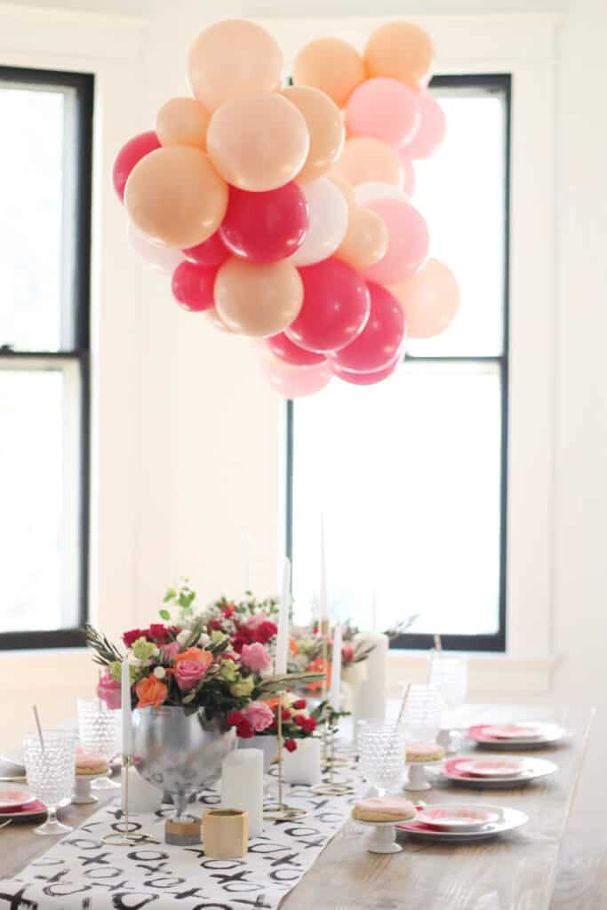 gorgeous Valentines Day tablescape