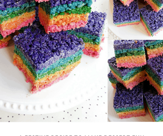rainbow shaped rice Krispy treats
