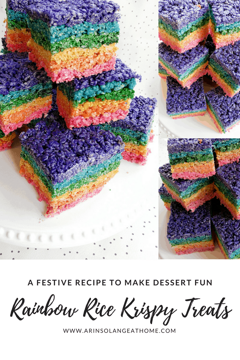 rainbow shaped rice Krispy treats