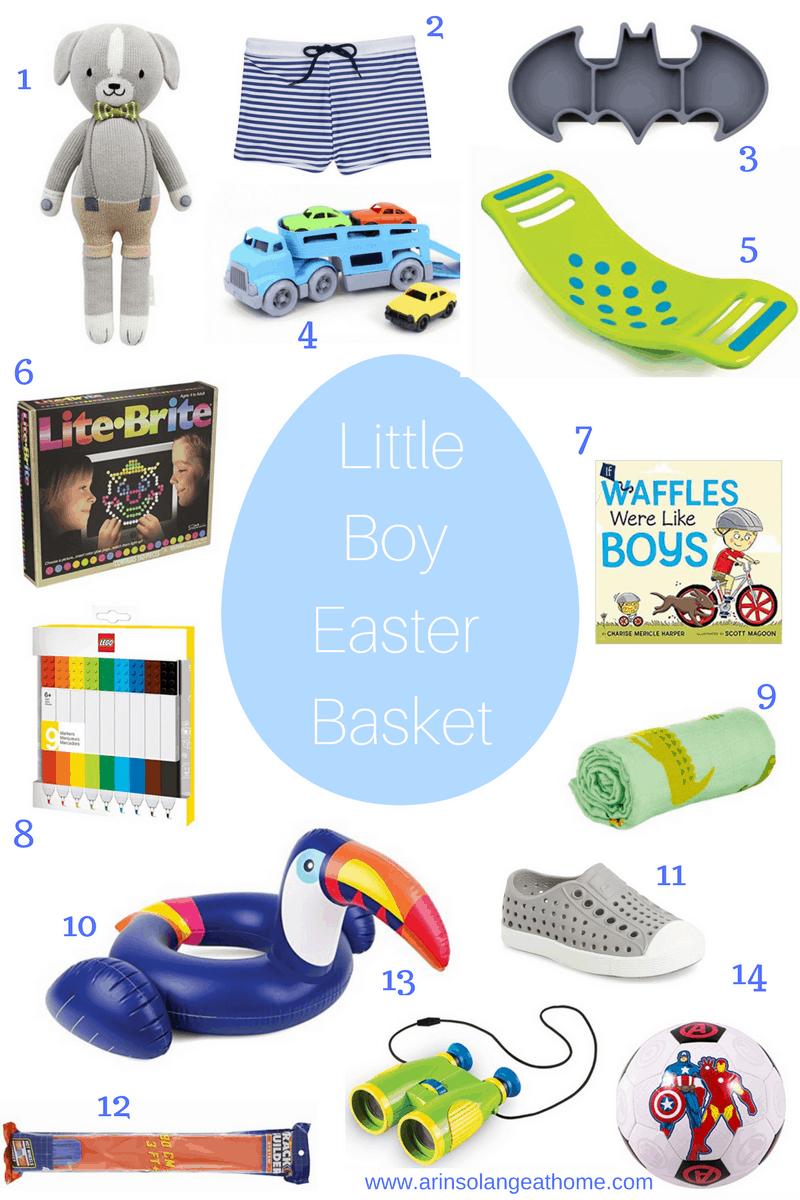 Little Boy Easter Basket Ideas