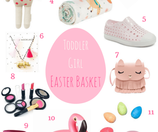 Toddler Girl Easter basket filler collage