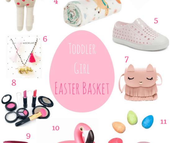 Toddler Girl Easter basket filler collage