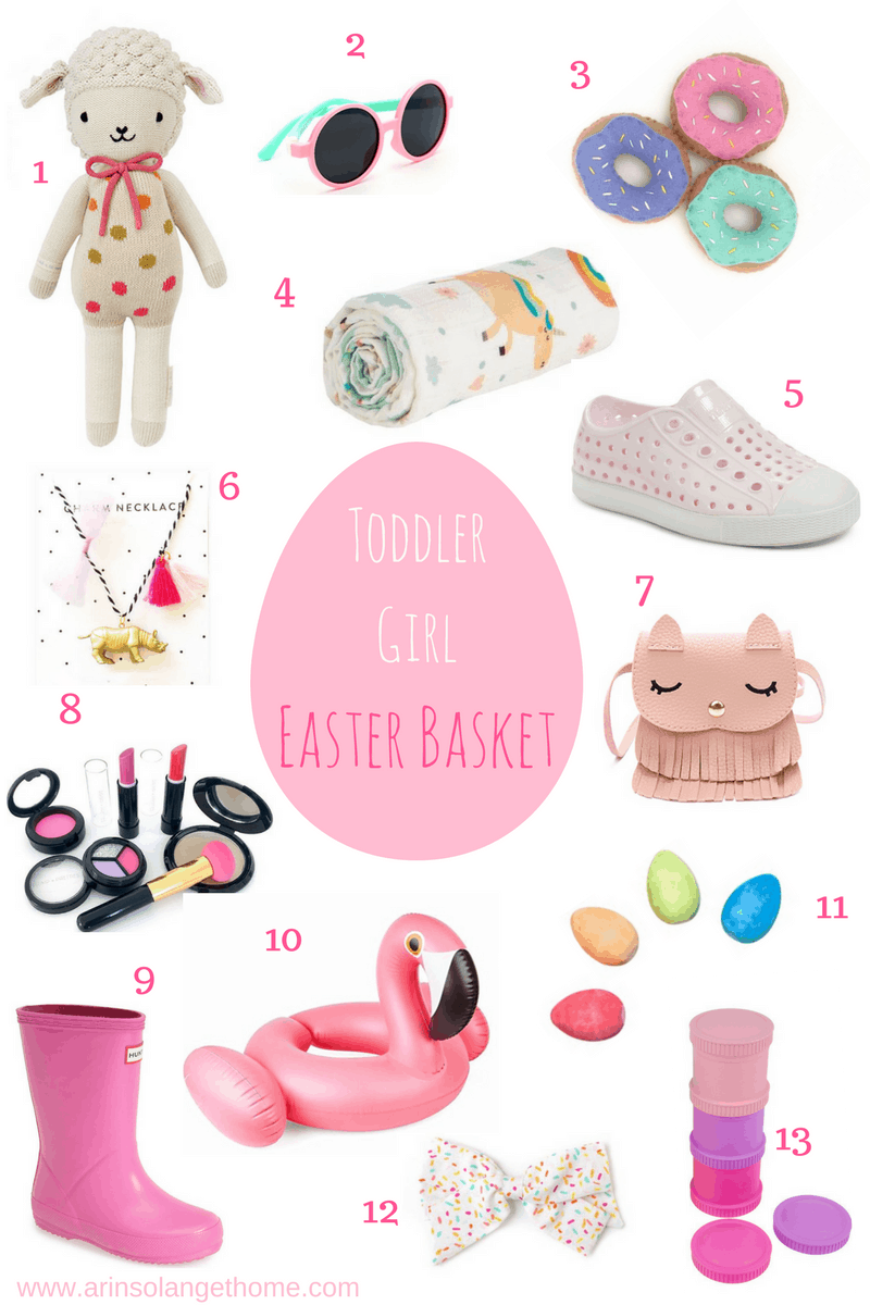 Toddler Girl Easter basket filler collage | Toddler Girl Easter Basket Ideas