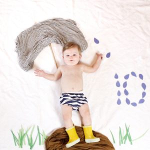 10 month April showers baby photo