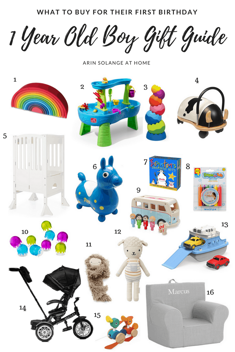 one year old boy gift guide for first birthday |