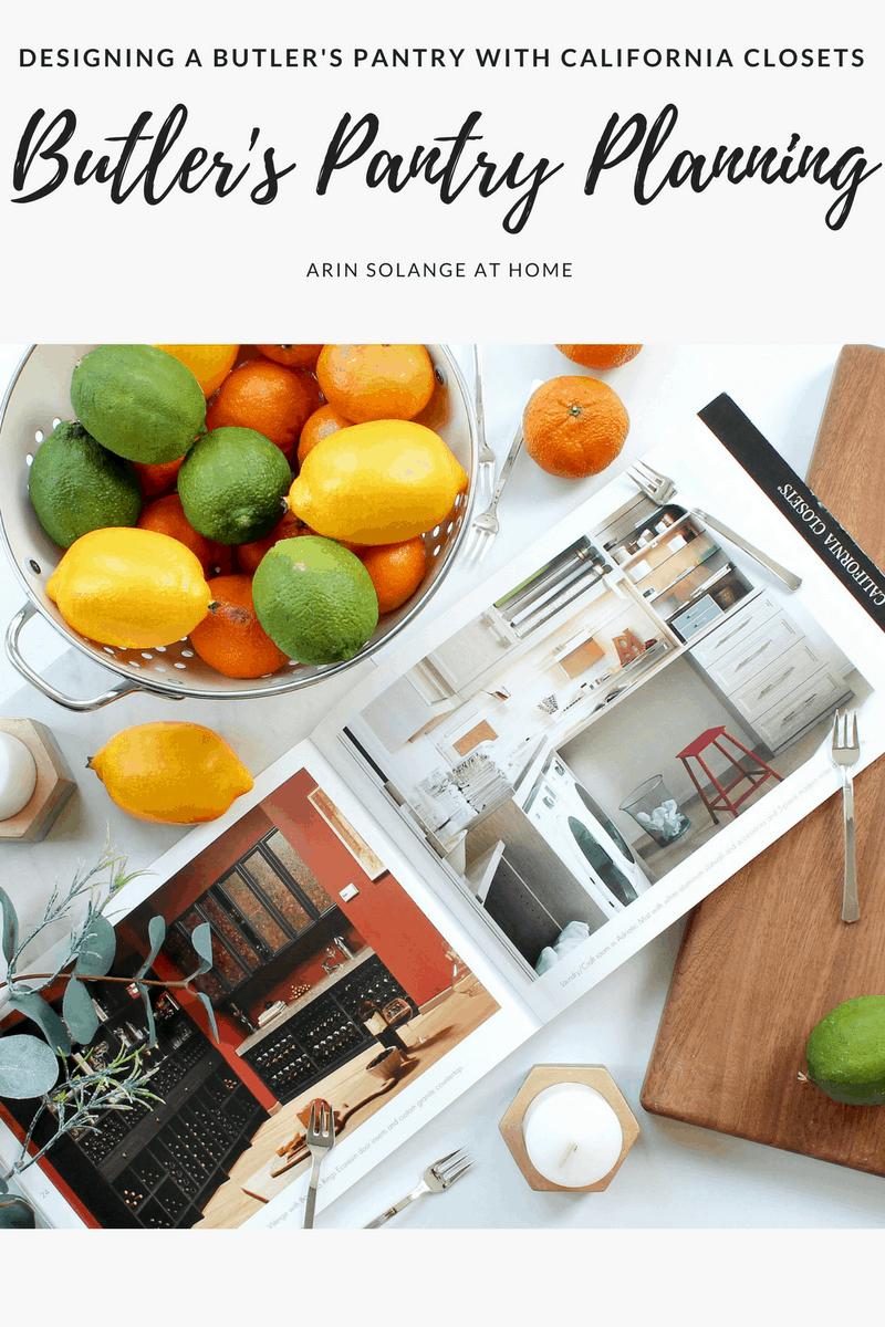 Flatlay of California closets magazine with fruit