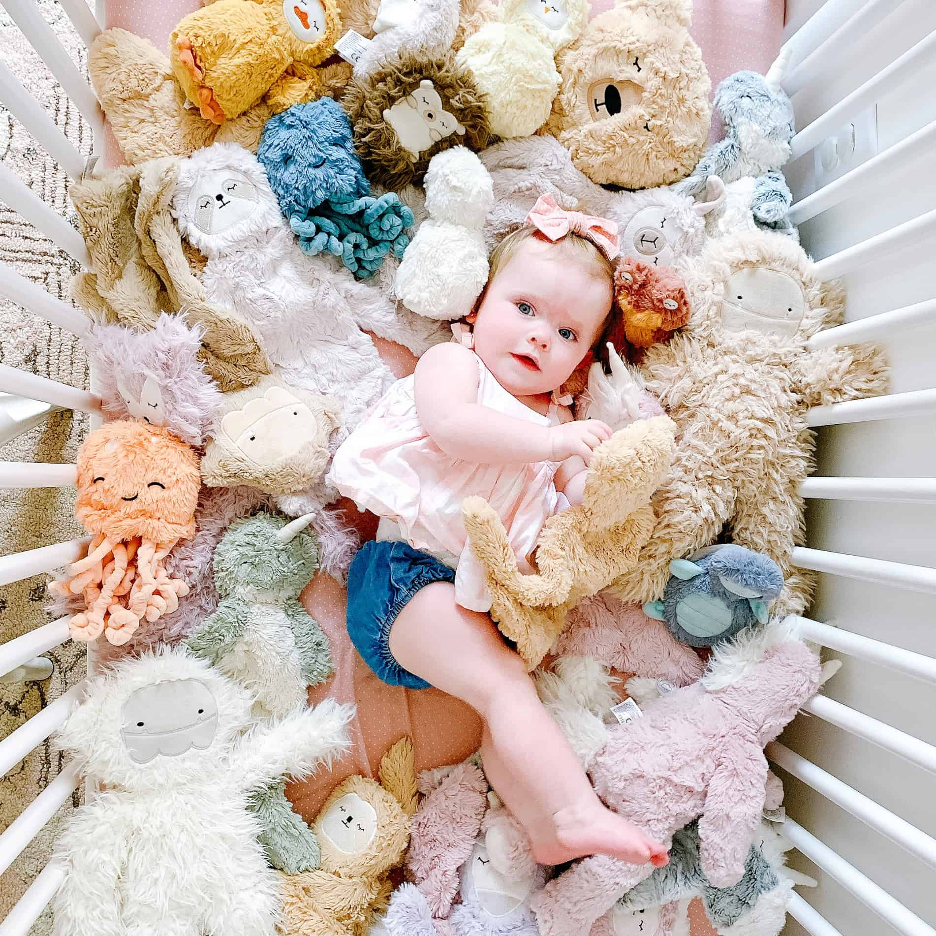 one year old girl in slumberkins