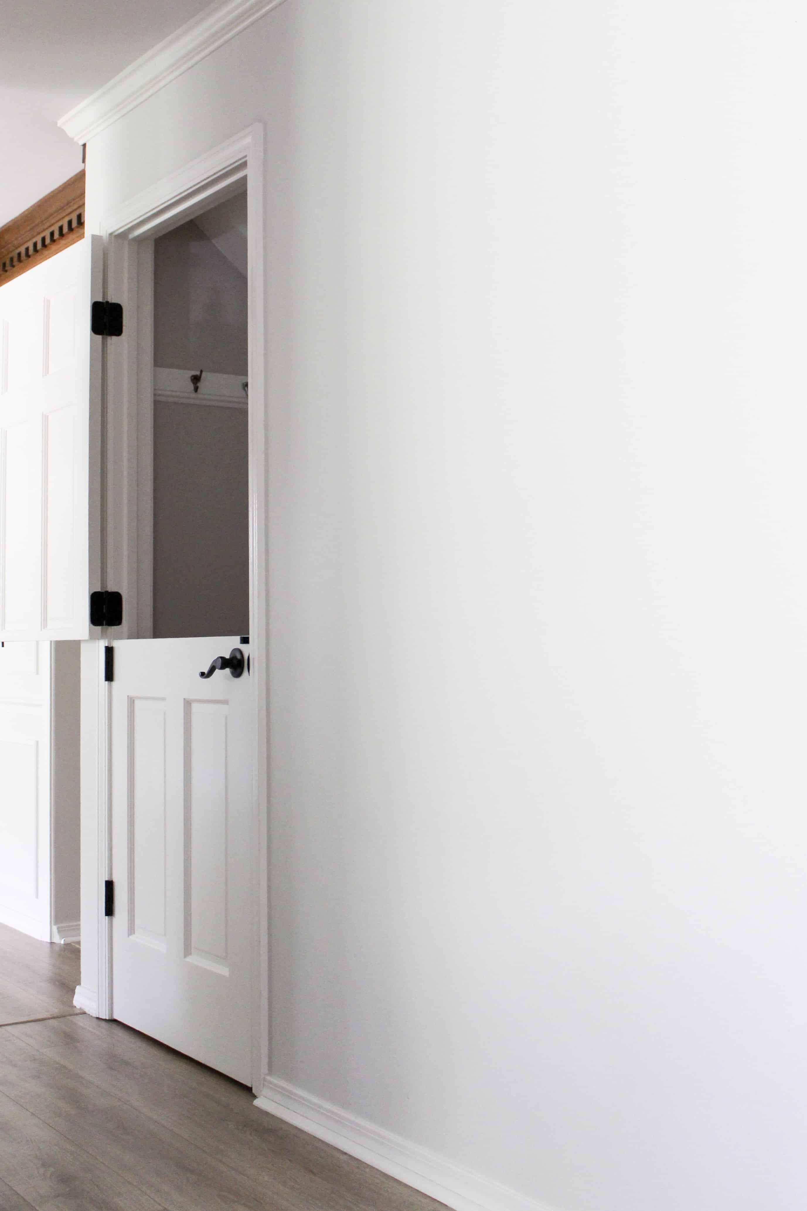 open dutch door to basement