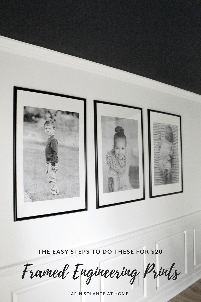 large framed black and white photos on wall | Large Framed Engineering Prints