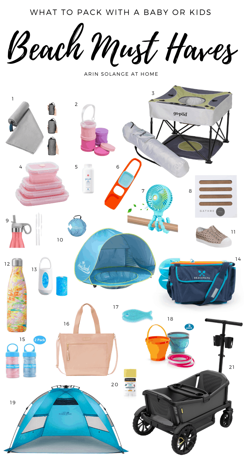 beach must haves for babies and kids