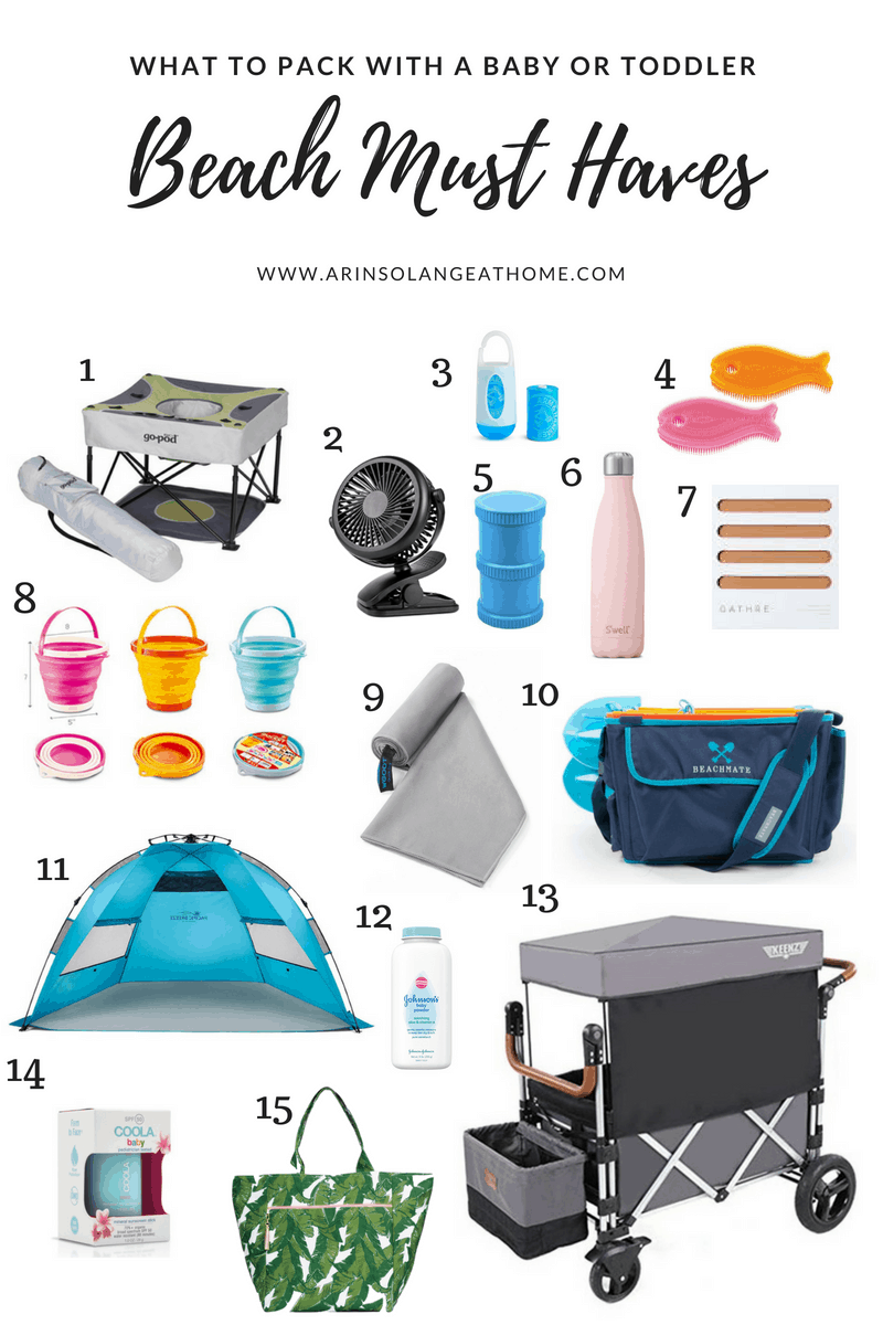 baby beach favorites collage   Baby and Toddler Beach Must Haves