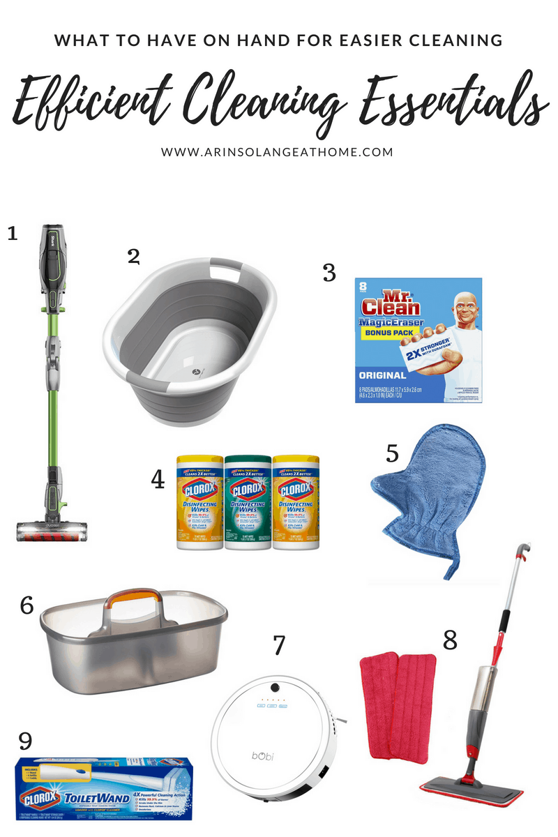cleaning essentials collage