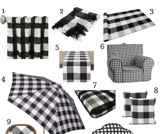 black buffalo check decor collage