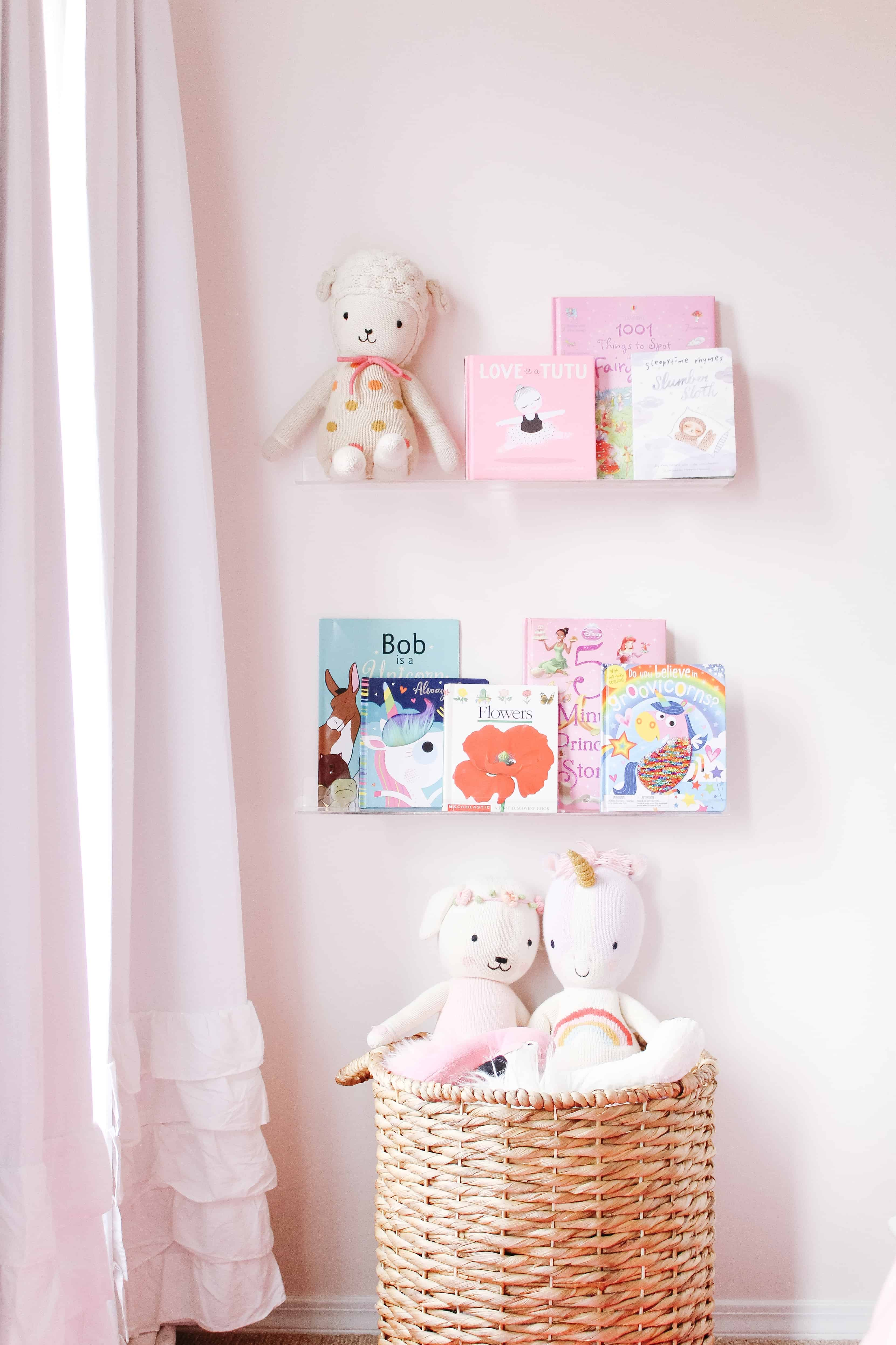Clear book ledges in toddler room