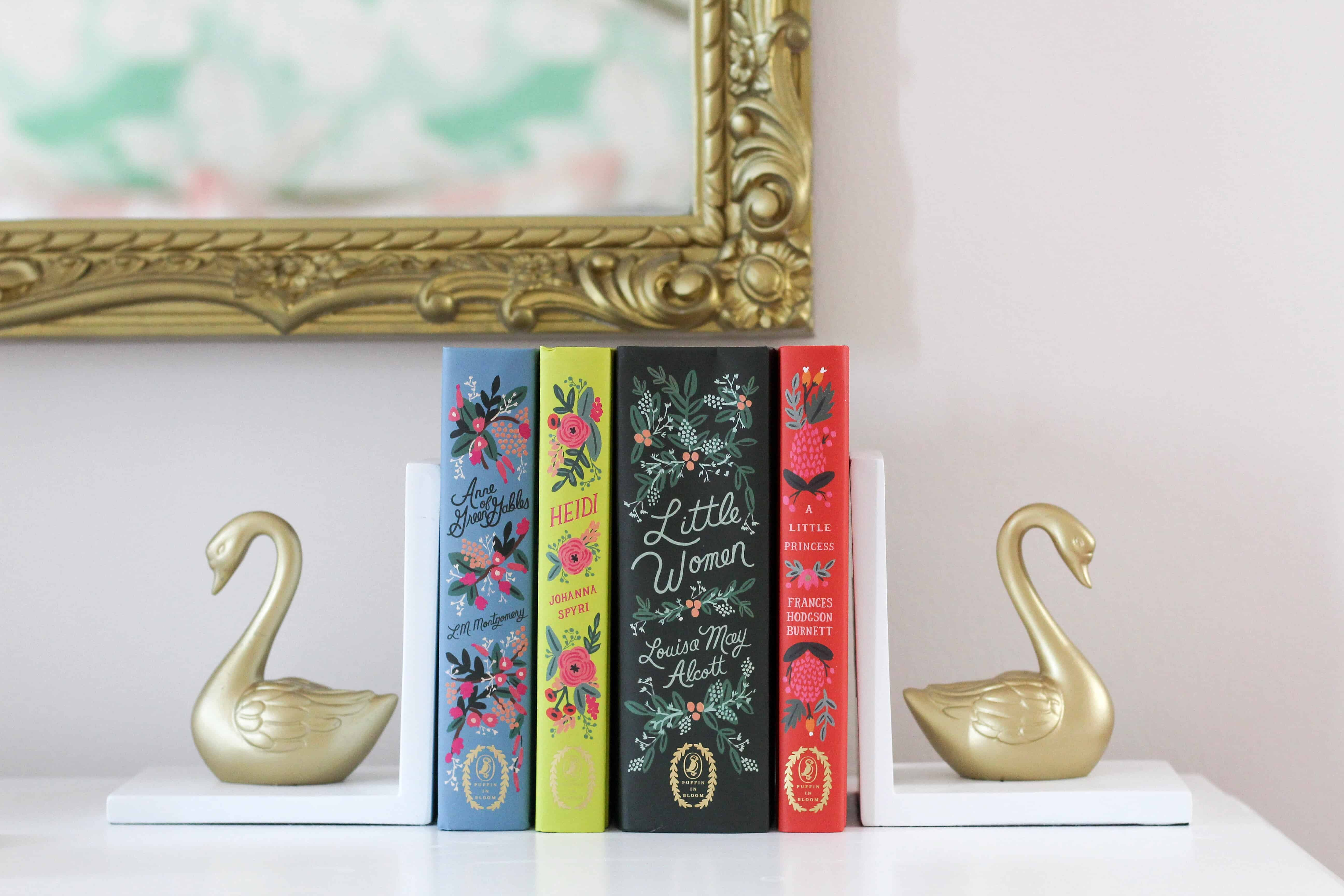 Classic books with rainbow cover