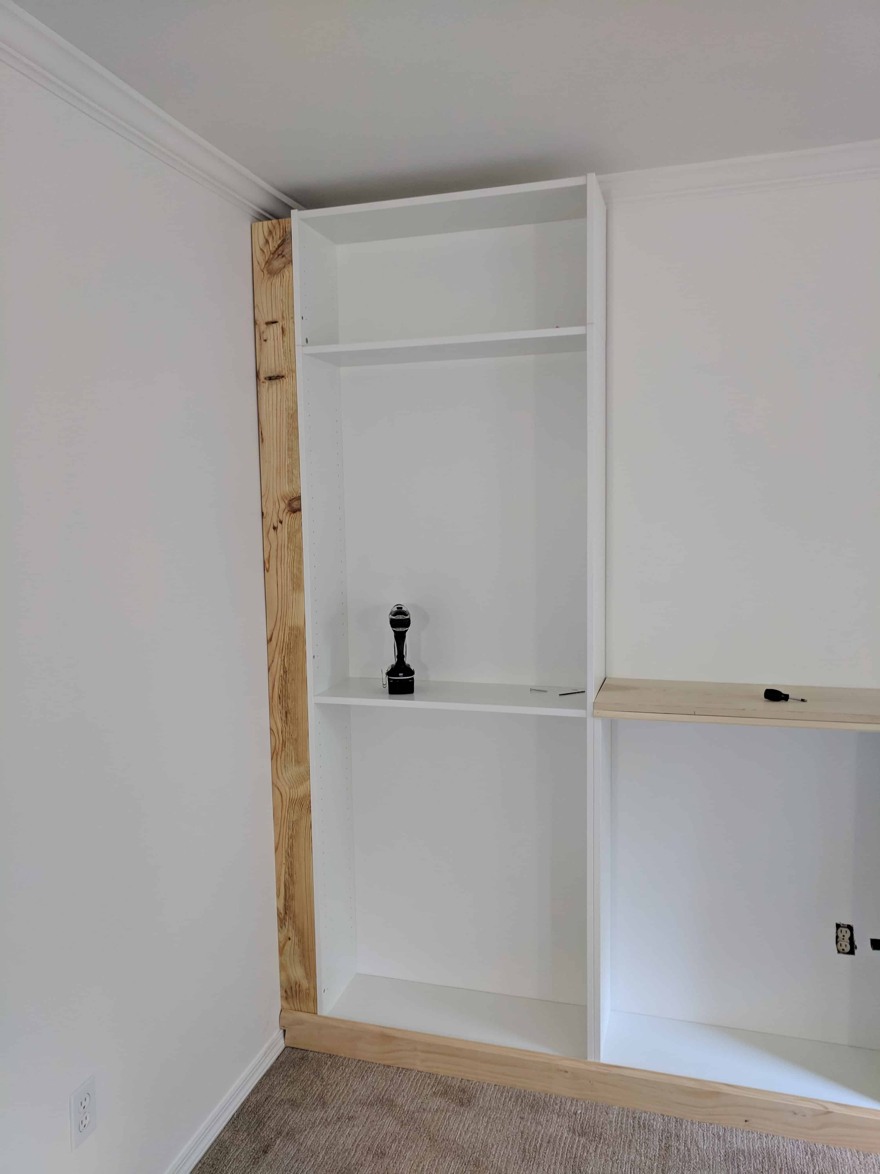 ikea built in hack from billy bookcase