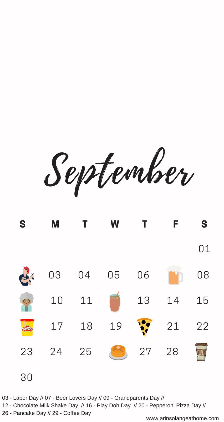 September National Days Calendar