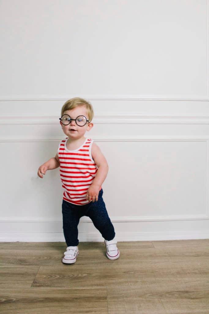toddler diy where's Waldo costume
