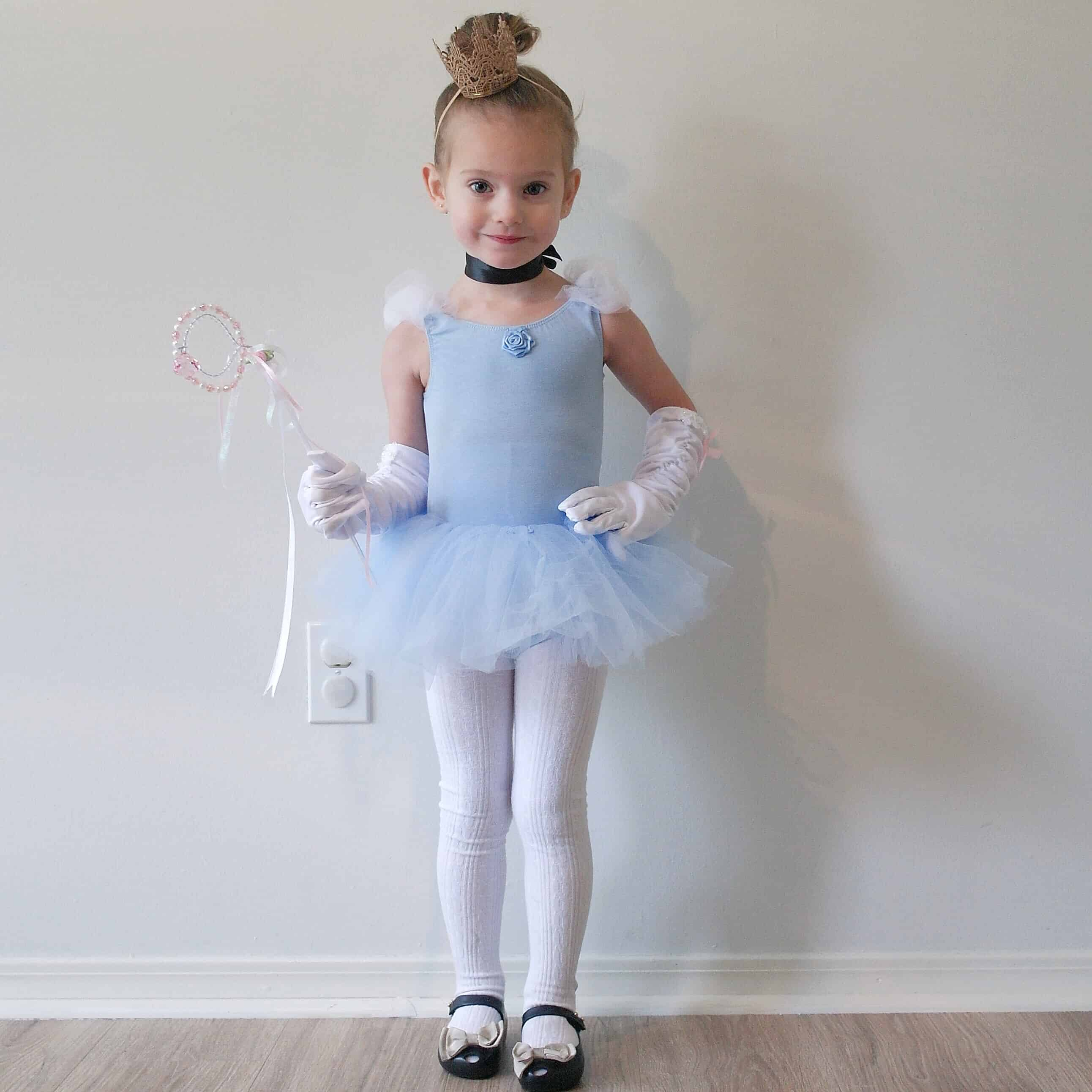 diy toddler cinderella costume