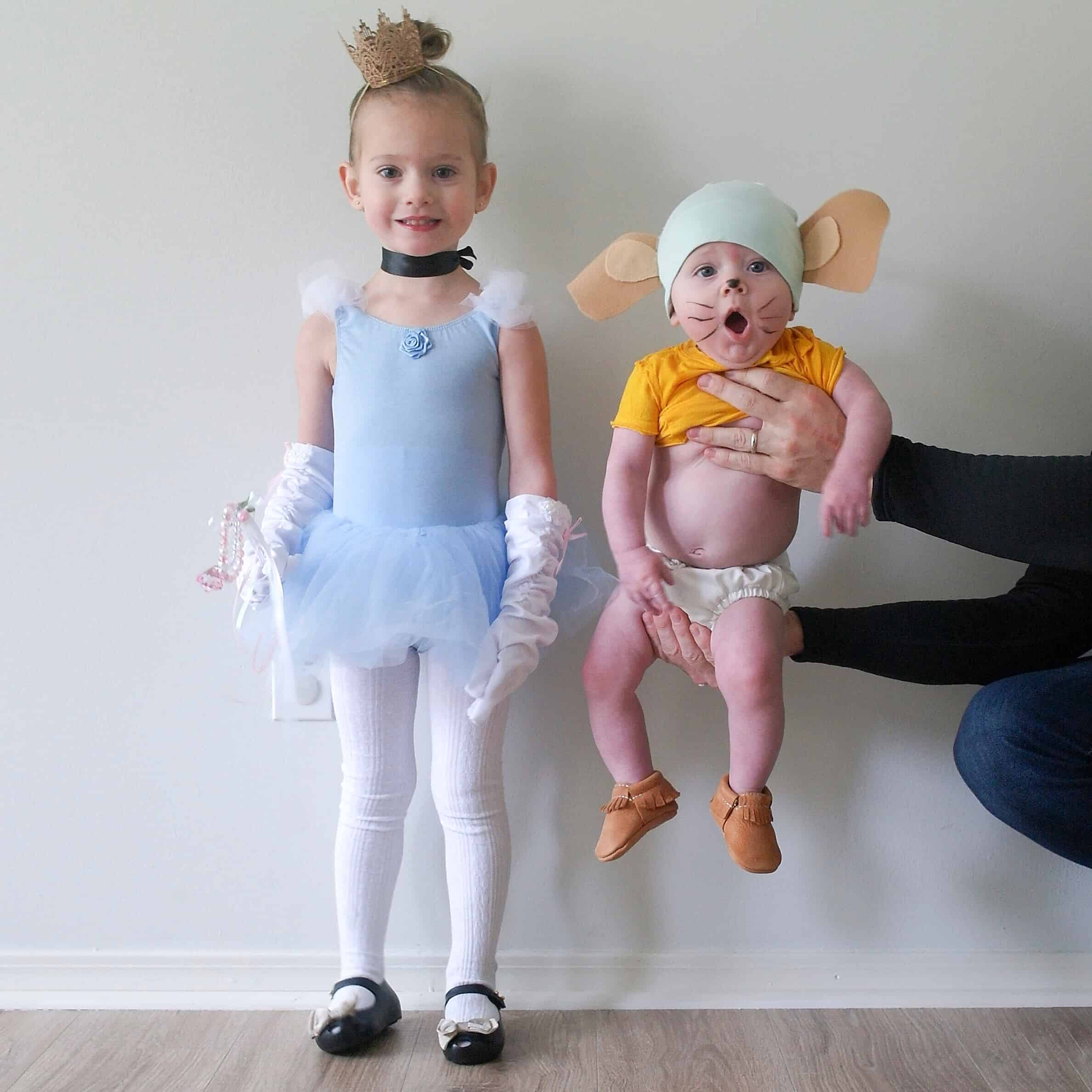 diy cinderella and Gus Gus costumes