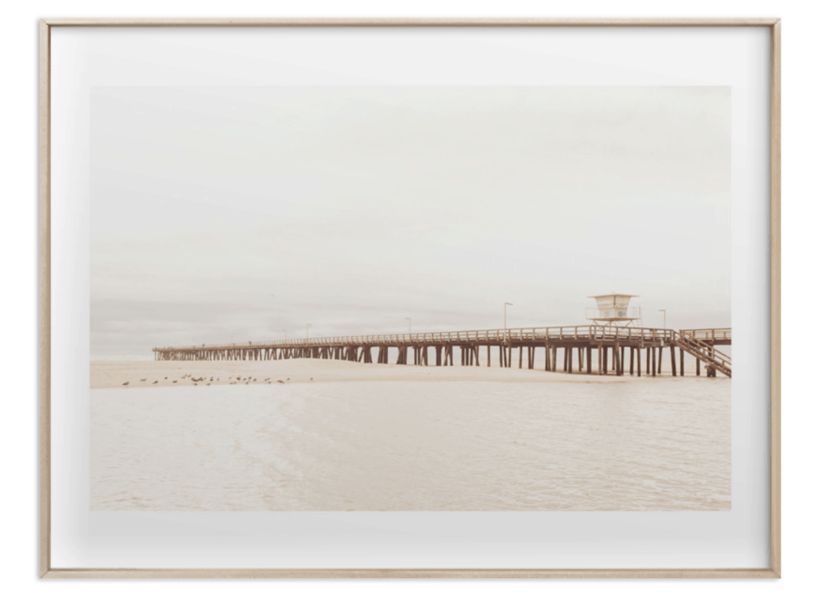 Minted Stormy Pier