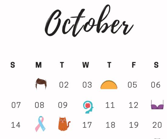 October National Days Calendar