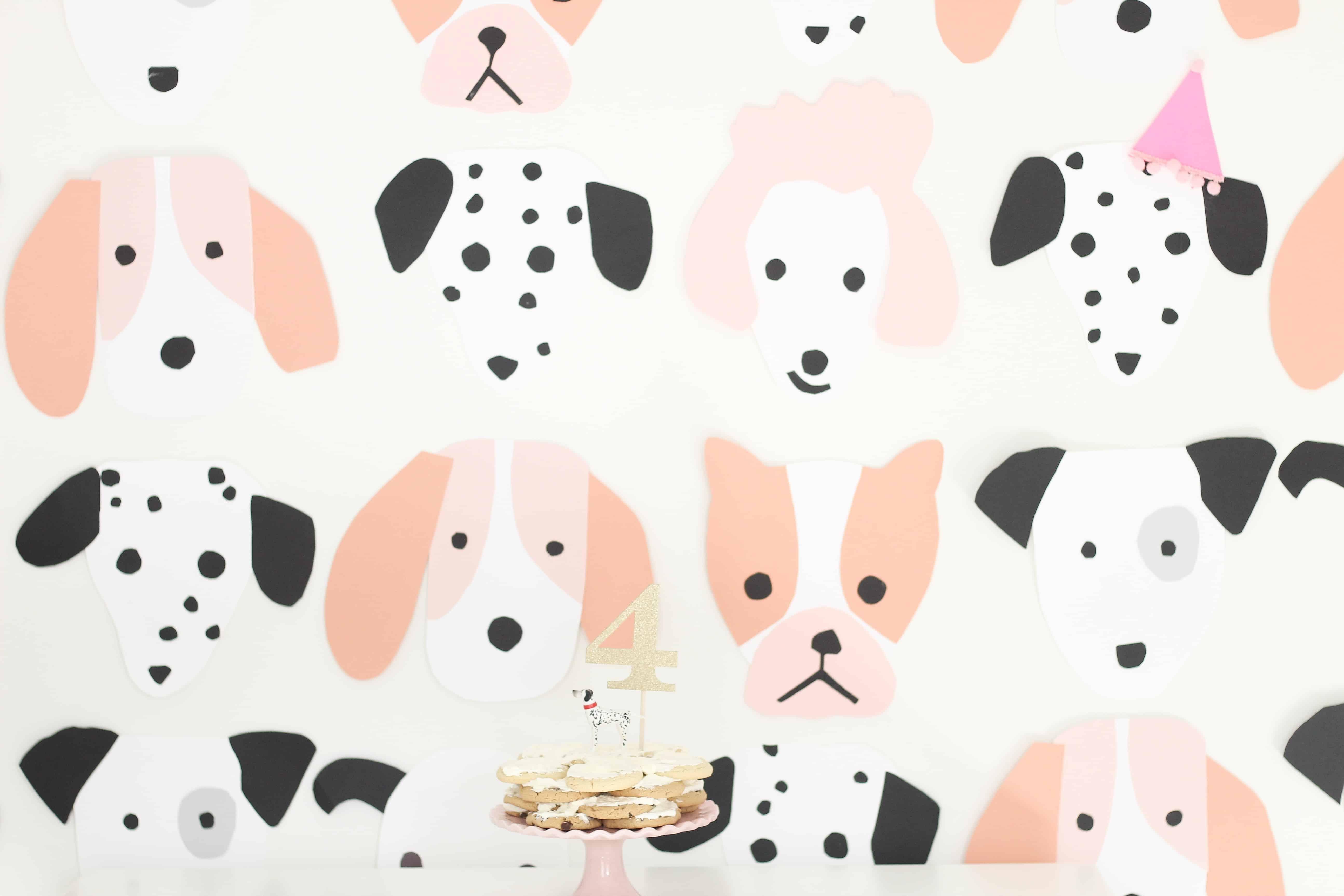 Pink puppy photo wall