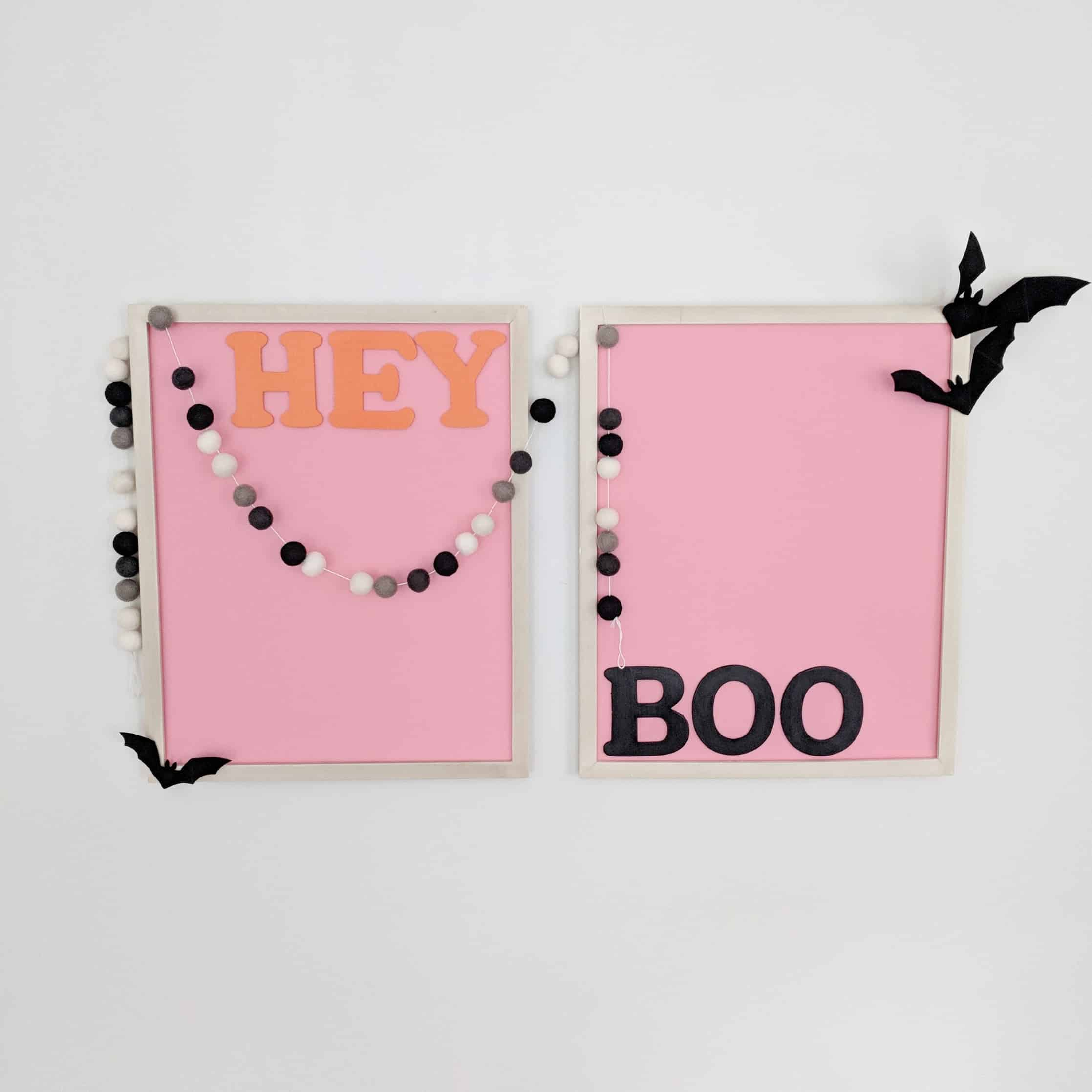 hey boo framed prints