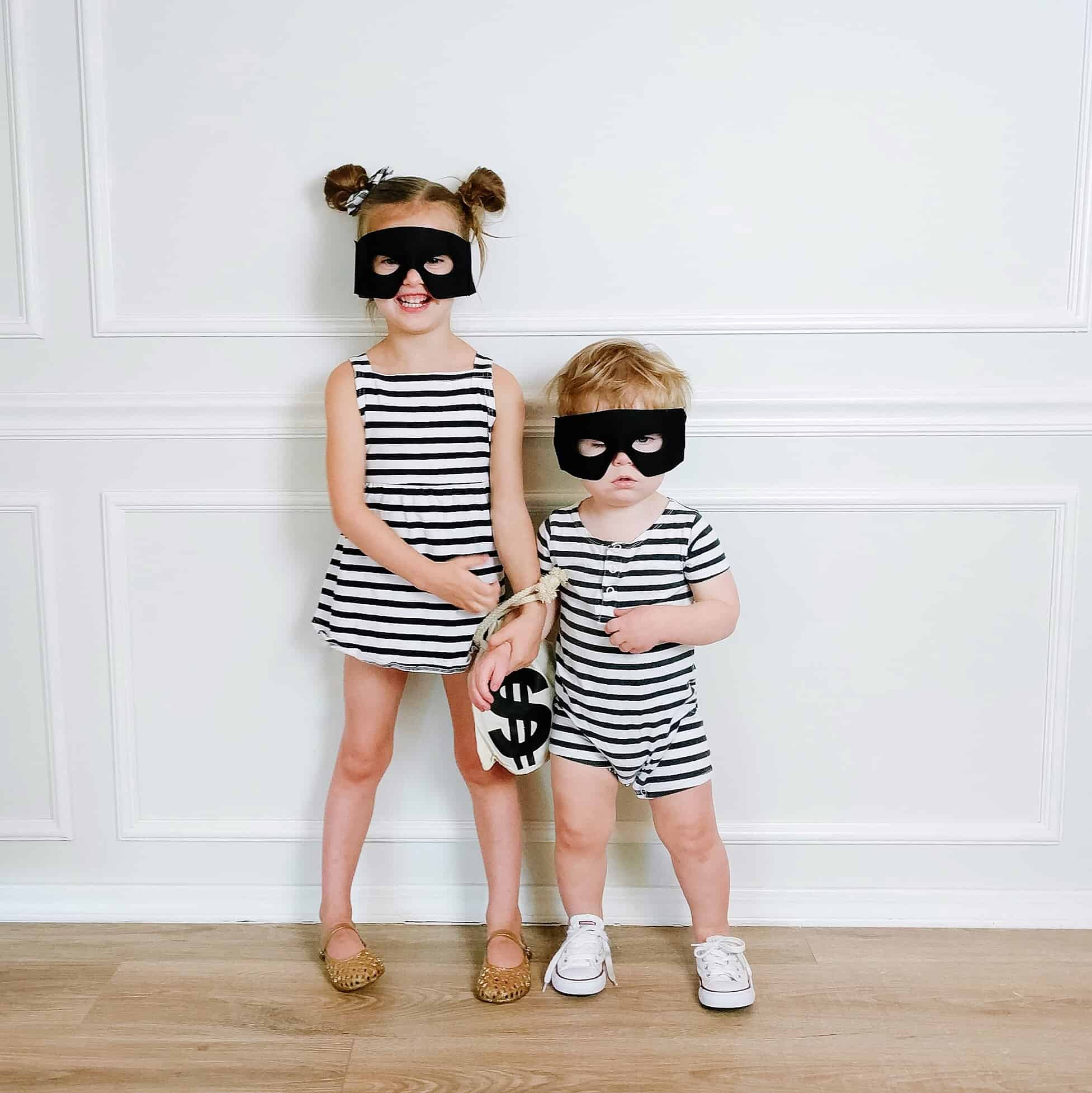 DIY robber costumes for toddlers