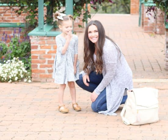 Mom and daughter by the Freshly Picked Diaper Bag
