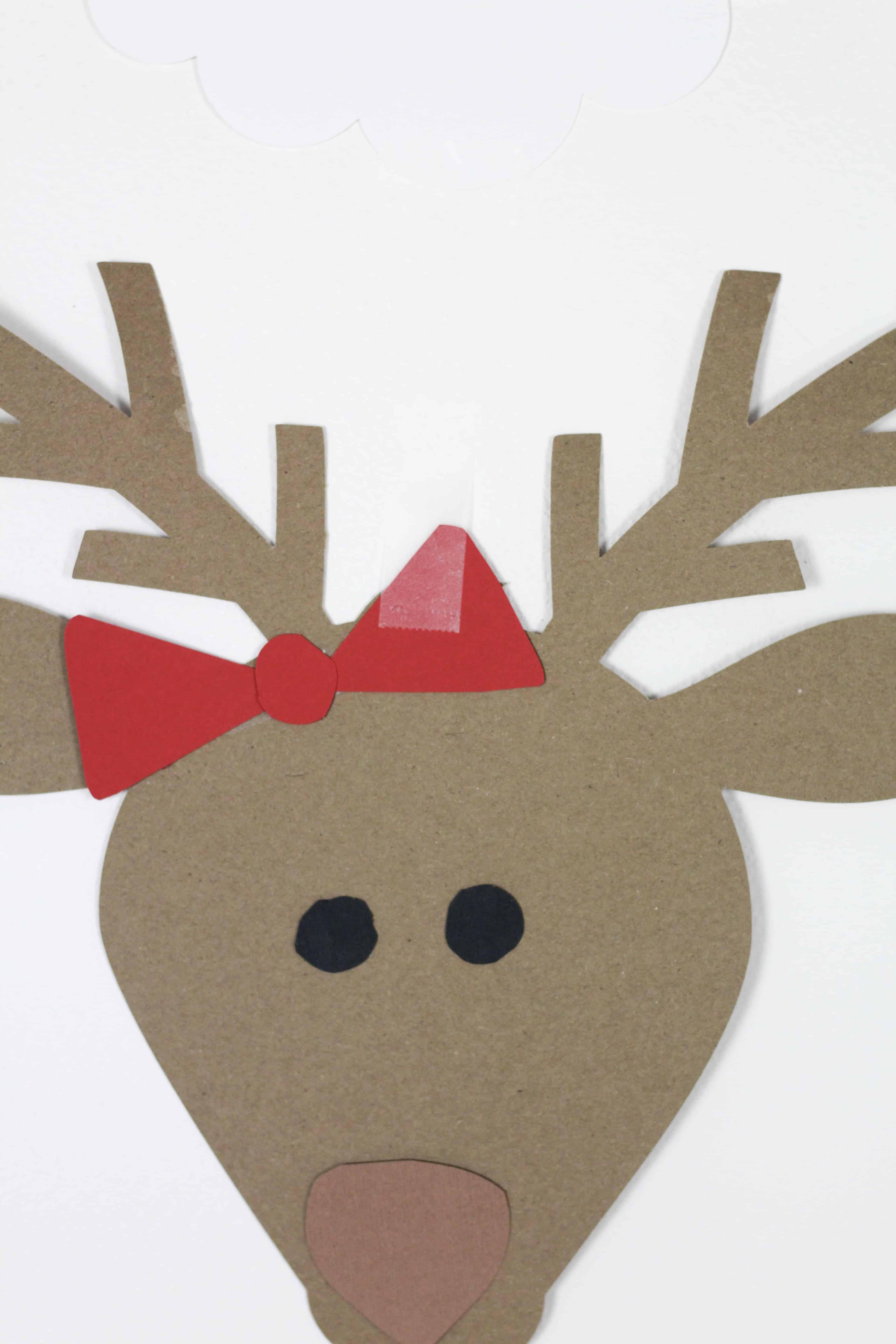 santa and reindeer backdrop