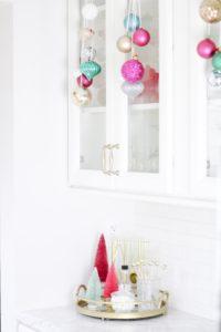 merry and bright white kitchen bar