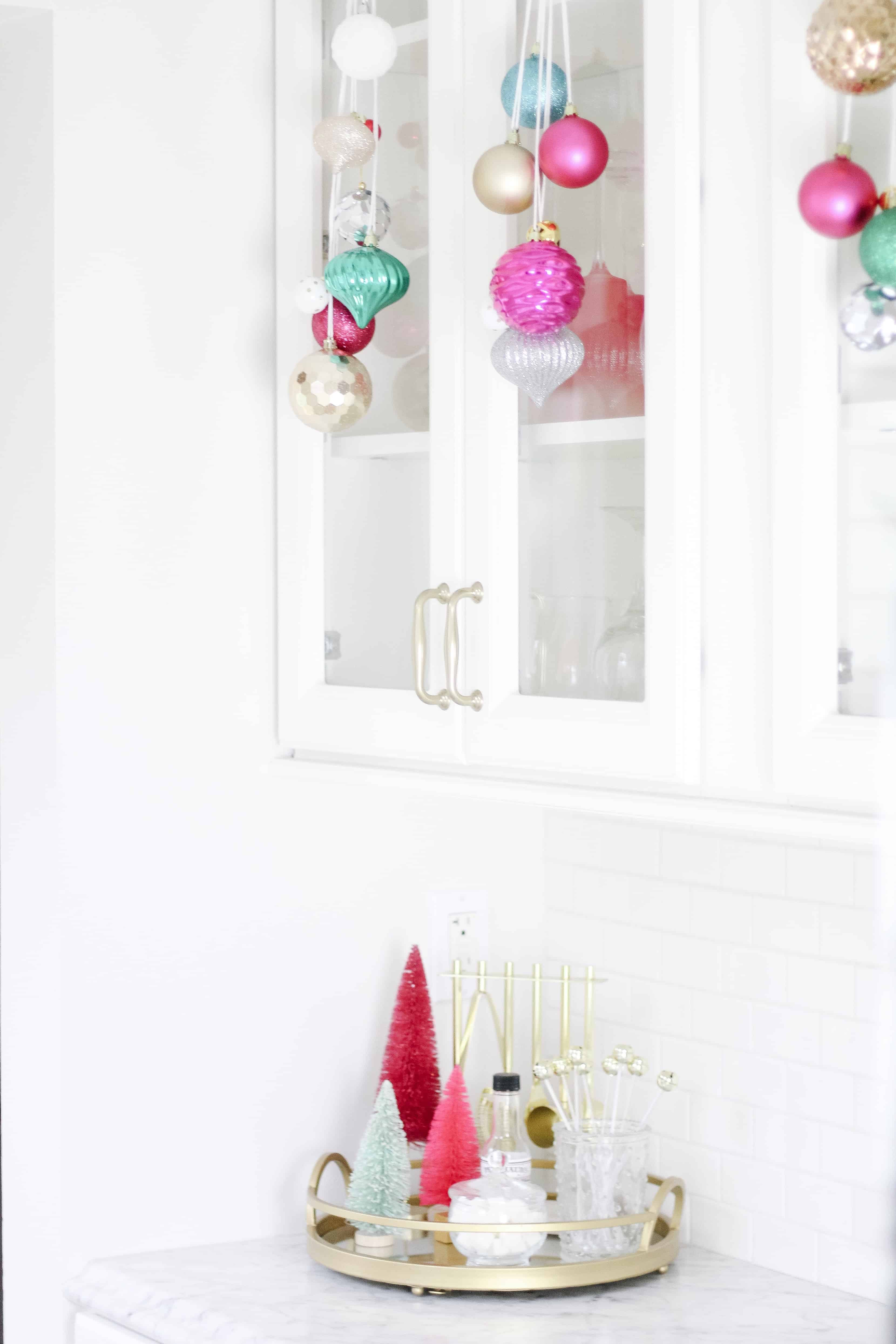 merry and bright white kitchen bar