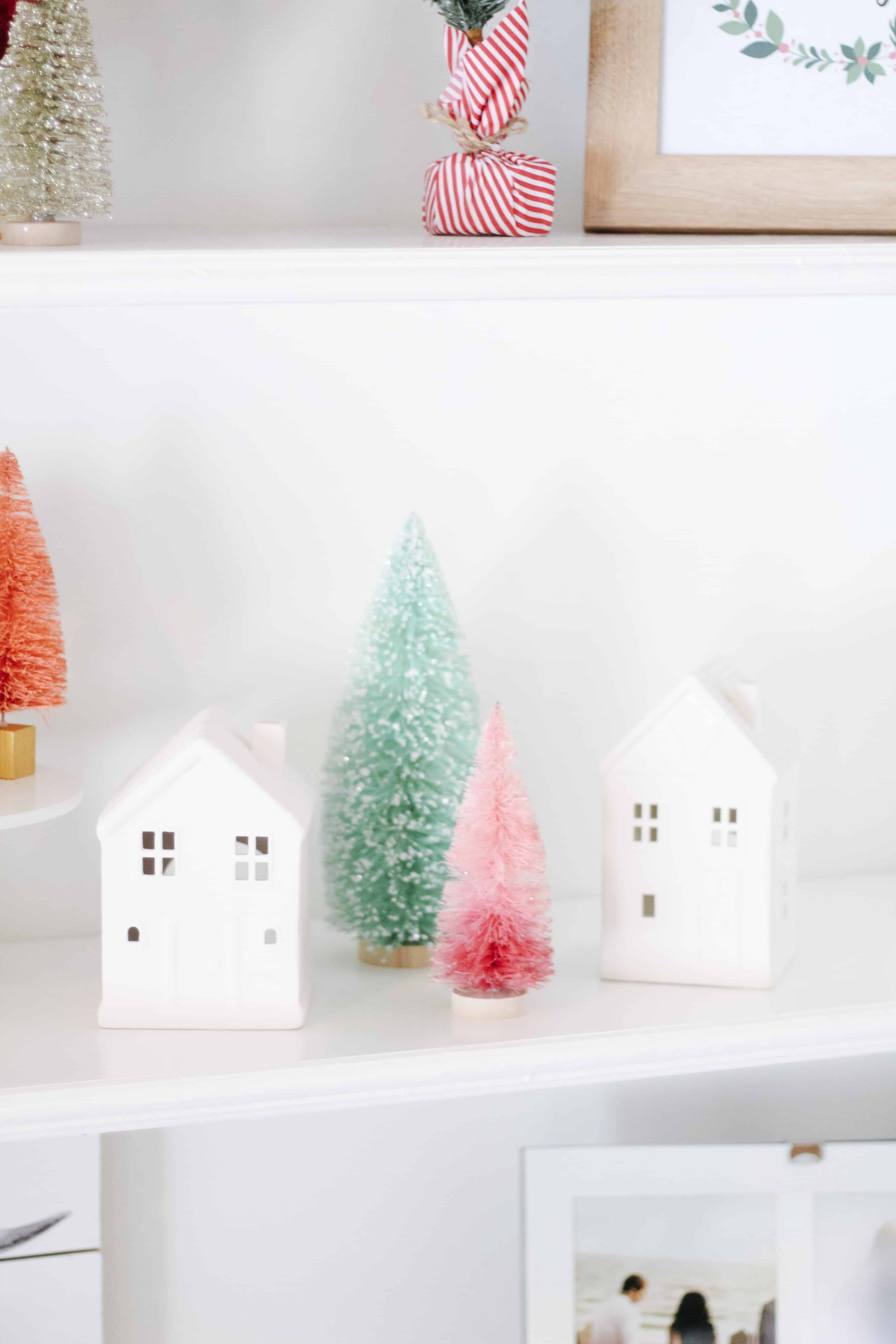 Merry and Bright shelves