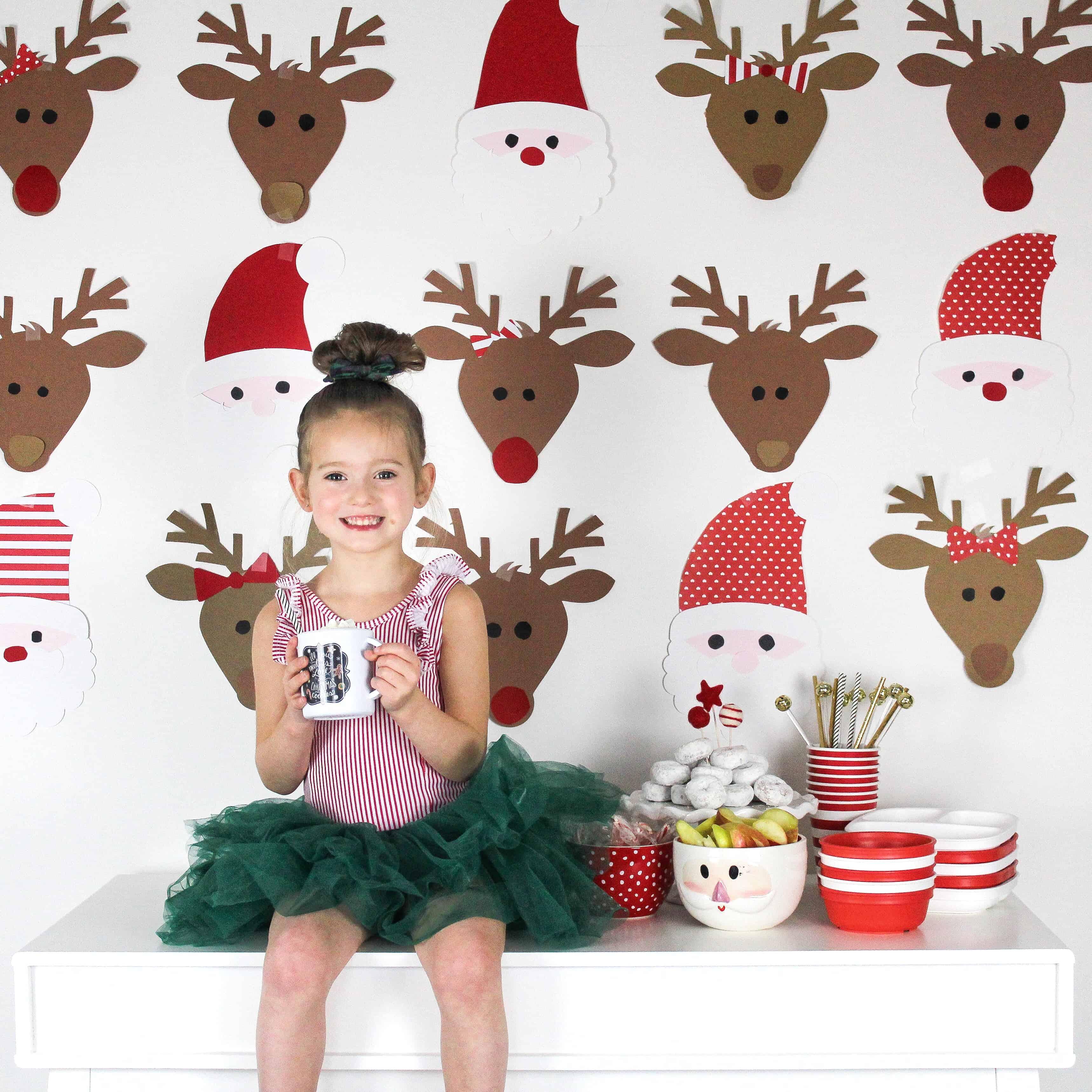 Little girl at Santa Brunch